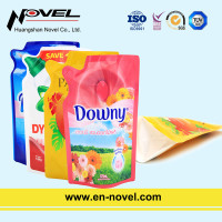 Stand Up Shaped Pouch with Spout for Fabric Softener/Liquid Detergent