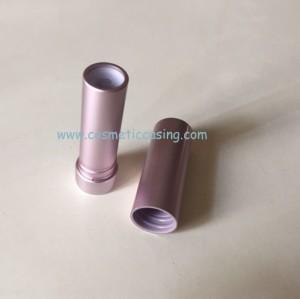 Silver lipstick tube Aluminium lipstick containers cosmetics type lipstick case