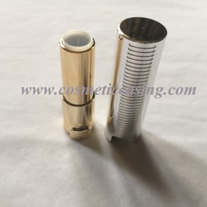 Silver Plastic lipstick tube empty lipstick container lipstick case for cosmetics packaging