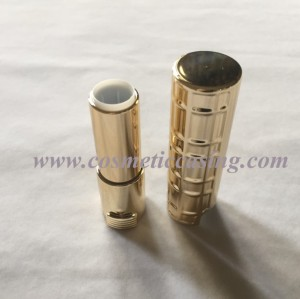 Golden Plastic lipstick tube empty lipstick container lipstick case for cosmetics packaging