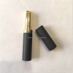Black aluminium lipstick tube empty lipstick container lipstick case for cosmetics
