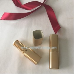 Square shape Golden Plastic Lipstick tube empty lipstick container lipstick case for cosmetics