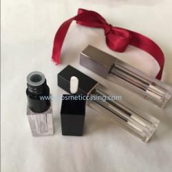 Mini sqaure Lip gloss tube empty lip gloss container lip gloss case for cosmetics