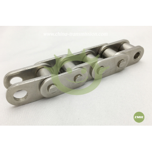 Stainless steel short pitch roller chain with straight side plates