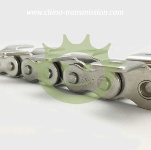 Stainless steel roller chains with attachment