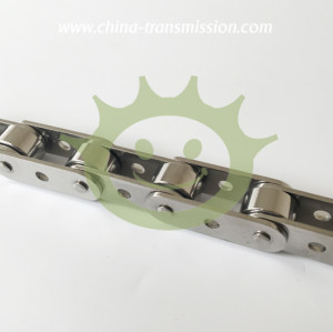 Stainless steel conveyor chain with extend pins