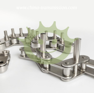 Stainless steel conveyors chain with extend pin