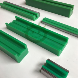 green profile for stainless steel chain, green guide