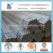 Thin wall Galvanized Seamless Steel Pipe for greenhouse frame