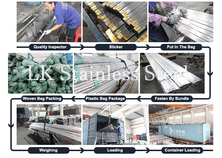 LK Stainless Steel factory pipe for packing and shipping