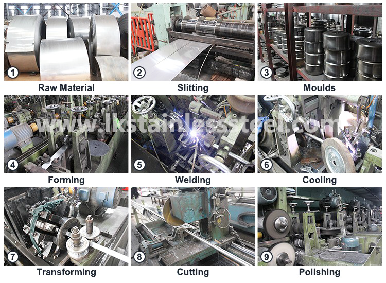 LK Stainless Steel products producing processes