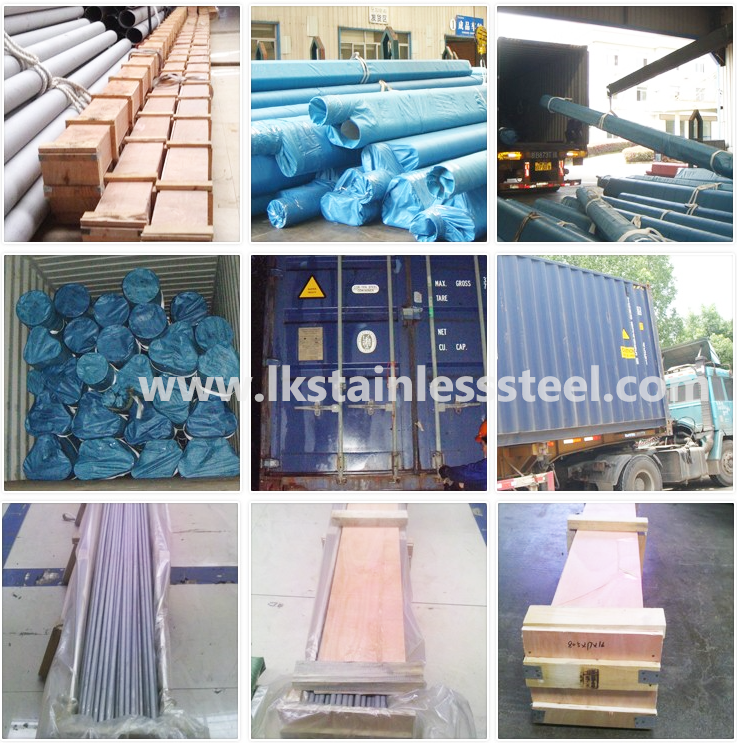stainless steel packing and delivery