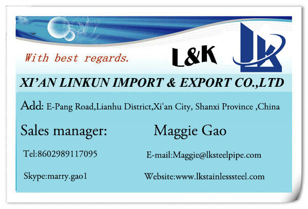 contact LK Stainless Steel email xalkwz..........com