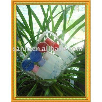 8 in 1 plastic travel set bottle,cosmetic jar, travel bottle