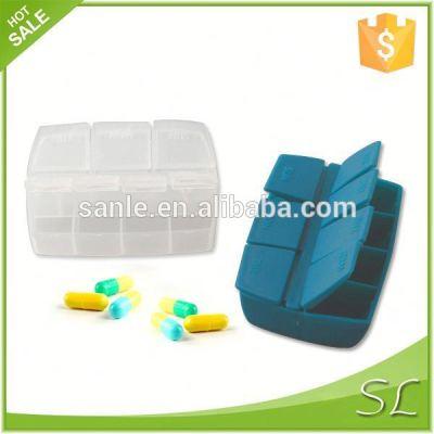 Plastic Pill Box of 7 lattices in PP material