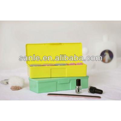 Pencils in plastic rectangular box