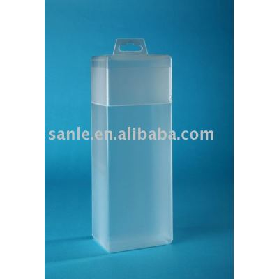 Cuboid clear plastic box for storaging