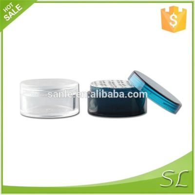 Cosmetic plastic jars with lids