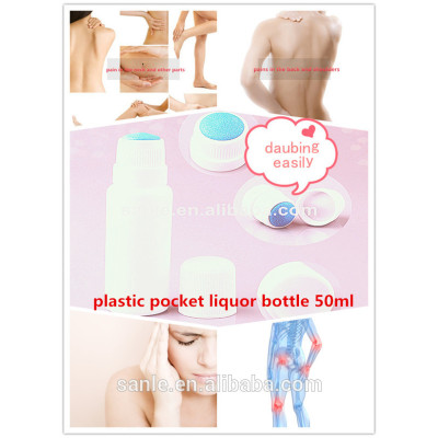 plastic pocket liquor bottle 50ml