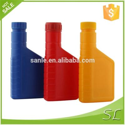 Colored fuel oil bottles