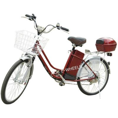 250W36V Brushless Motor City Lady Electric Bicycle with Basket (EB-070)