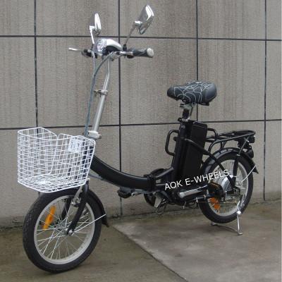 Mini Folding City E-Bike with Basket and LED Headlight (FB-006)