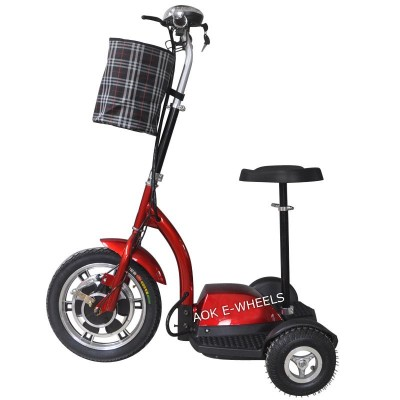Three Wheel Electric Scooter, Electric Tricycle with Basket (ES-048)