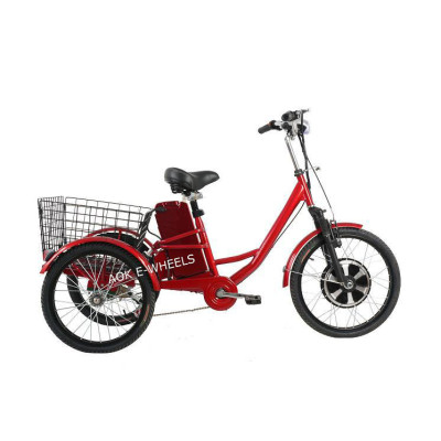 350W Electric Tricycle for Cargo with Big Basket (TC-017)