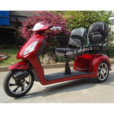 500W/800W Two Seat Electric Tricycle with Deluxe Saddle (TC-016C)