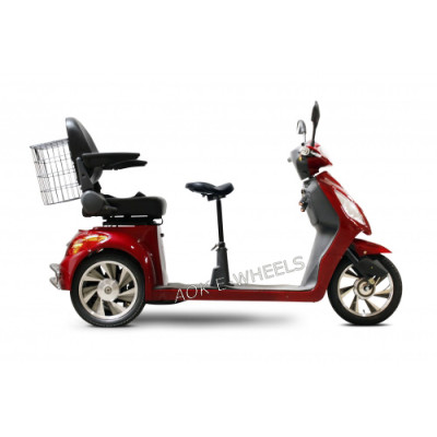 500W/800W Two Seat Electric Mobility Scooter with Basket (TC-016D)