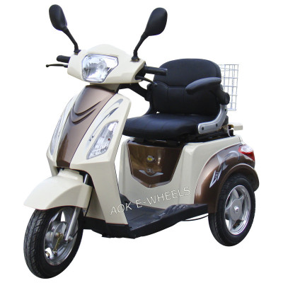 500W48V Electric Disabled Scooter with Deluxe Saddle for Old People (TC-018)