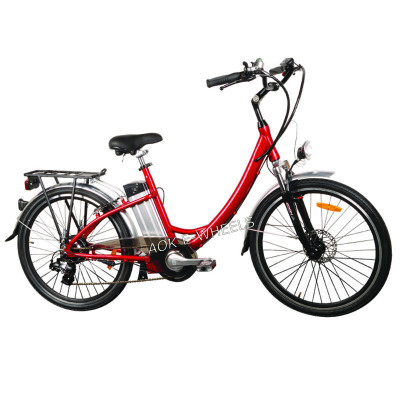Light Weight Lithium Battery Electric Bike with Shimano 7 Speed (TDE-001A)