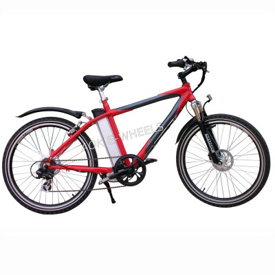 Aluminium Alloy Lithium Battery Mountain Electric Bike with Shimano 6 Speed (TDE-037N)