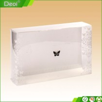 New custom logo pp Polypropylene plastic high Quality PP cosmetic Box with butterfly printing made in shanghai OEM factory