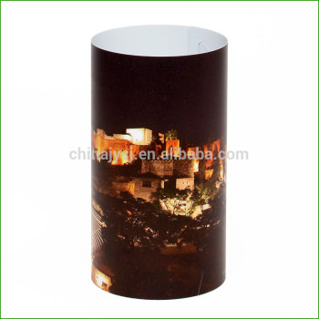 Eco friendly recyclable PP lamp shades outdoor plastic sheet lamp screen ,lamp cover for Christmas