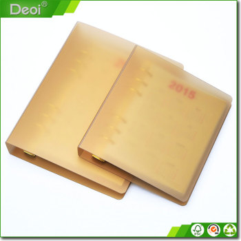 High-end custom professional plastic PP material spiral notebook
