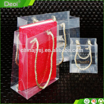 Clear Cosmetic Pvc Pp Transparent Plastic Bag For Shopping