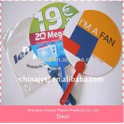 2015 горячая распродажа продвижение пластиковая ручка вентилятор сделано в китае