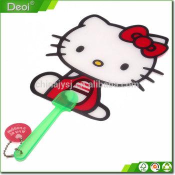 Hotsell !Cartoon Shape promotion plastic hand fan and Promotion Hand fan custom printed plastic fan