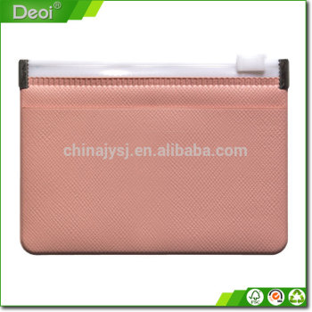 custom plastic PVC zipper document bag