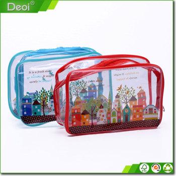 Hot selling PVC/PP/Plastic Material Zipper Material Cosmetic Bag