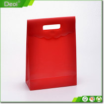 Transparent customized handle Plastic gift bag for promotinal gift