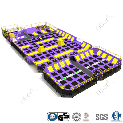 ASTM Approved Large Indoor Trampoline Park Builder