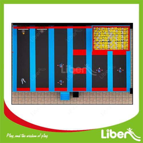 New Arrived Toddler Rectangle Trampoline For Kids With Enclosure