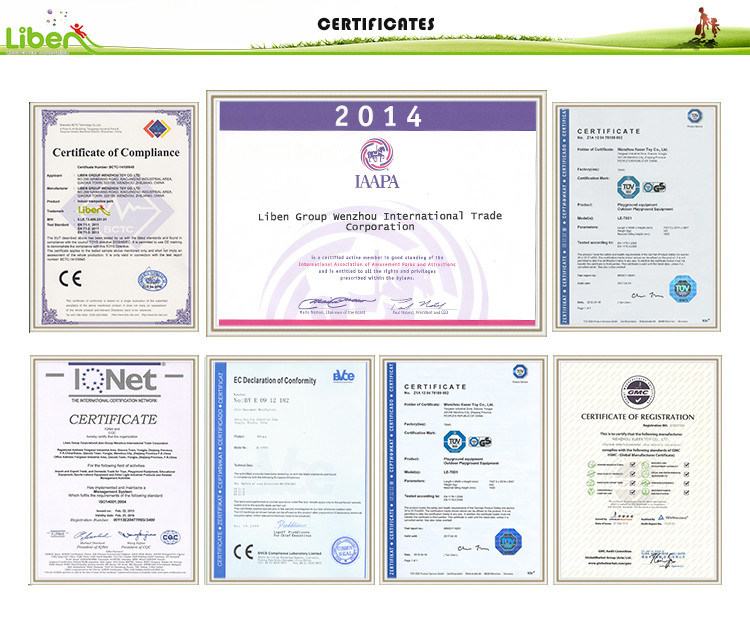 certificates of Trampoline Park Design