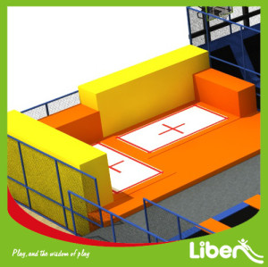 Large indoor commercial trampoline park for shopping mall