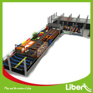 Indoor Rectangular Large Trampoline Park with Foam Pit