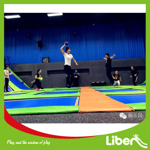 Colorful Trampoline World With Dodgeball Area