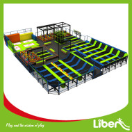 Indoor Commercial Big Square Custom Design Trampoline Park