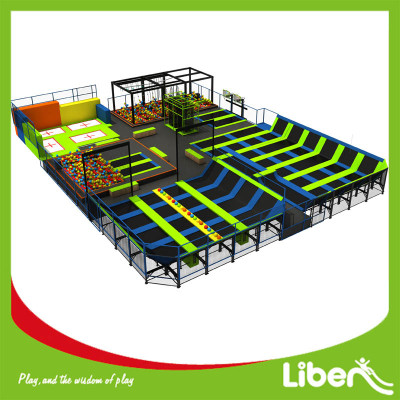 Indoor Commercial Big Square Custom Design Trampoline Park